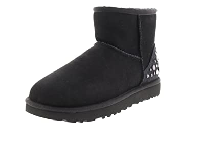 799404cfe64 UGG Boots Mini Studded Bling - Black: Amazon.co.uk: Shoes & Bags