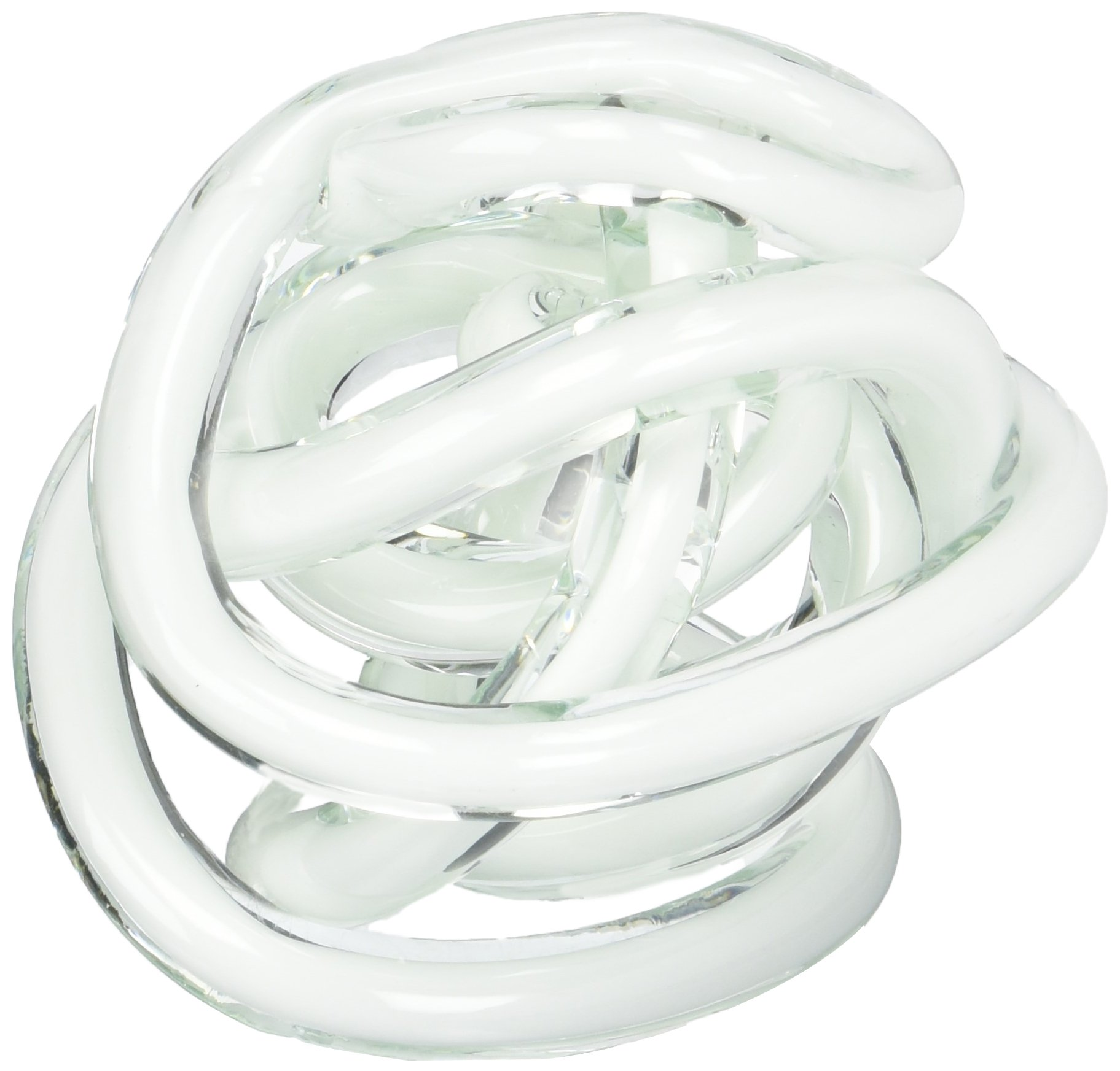 Torre & Tagus Orbit Glass Décor Ball, Small, White by Torre & Tagus