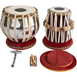 Tabla Set by SAI MUSICAL, Basic Tabla Drums Set, Steel Bayan, Dayan with Book, Hammer, Cushions and Cover - Perfect Tablas for Students and Beginners on Budget (PDI-IB) Tabla Drum, Indian Tabla
