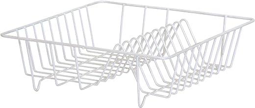 Ribelli Geschirrabtropfkorb Abtropfgestell Abtropfgitter 34 x 34 x 11 cm weiß