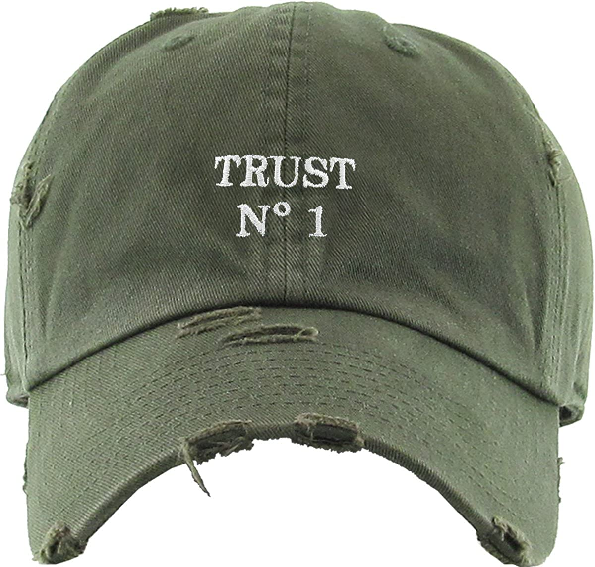 KBSV-055 OLV Trust No1 Vintage Distressed Dad Hat Baseball Cap Polo Style   Amazon.ca  Sports   Outdoors e126ef792472