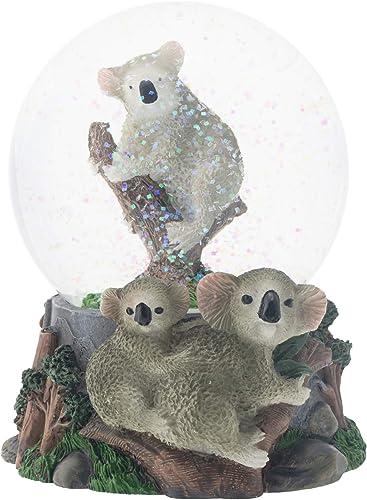 Elanze Designs Climbing Koala Family 100MM Musical Water Globe Plays Tune Born Free