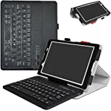 """Lenovo Tab 4 - 8 Inch Bluetooth Keyboard Case,Mama Mouth Slim Stand PU Leather Cover With Romovable Bluetooth Keyboard For 8.0"""" Lenovo Tab 4 - 8 Inch ZA2B0009US Android 7.1 Tablet,Black"""