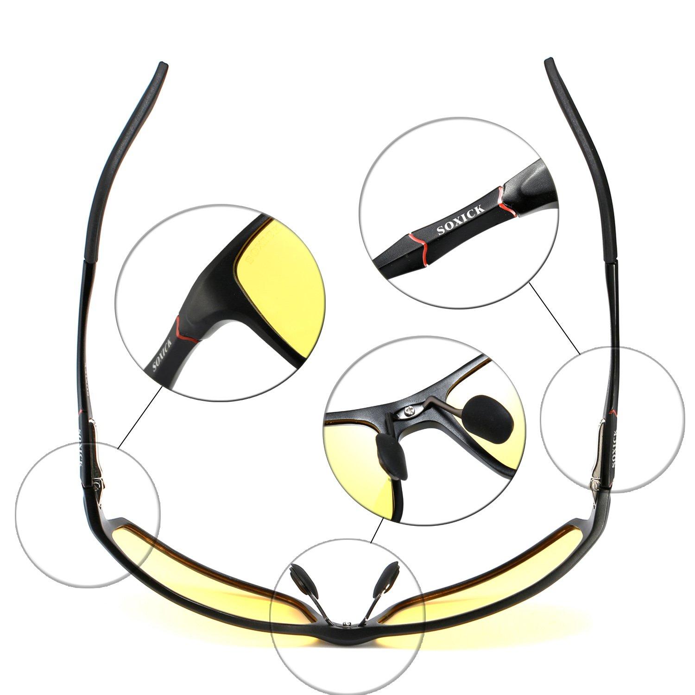 soxick HD polarizadas gafas de conducción nocturna antideslumbrante Gafas de seguridad, negro 2: Amazon.es: Deportes y aire libre