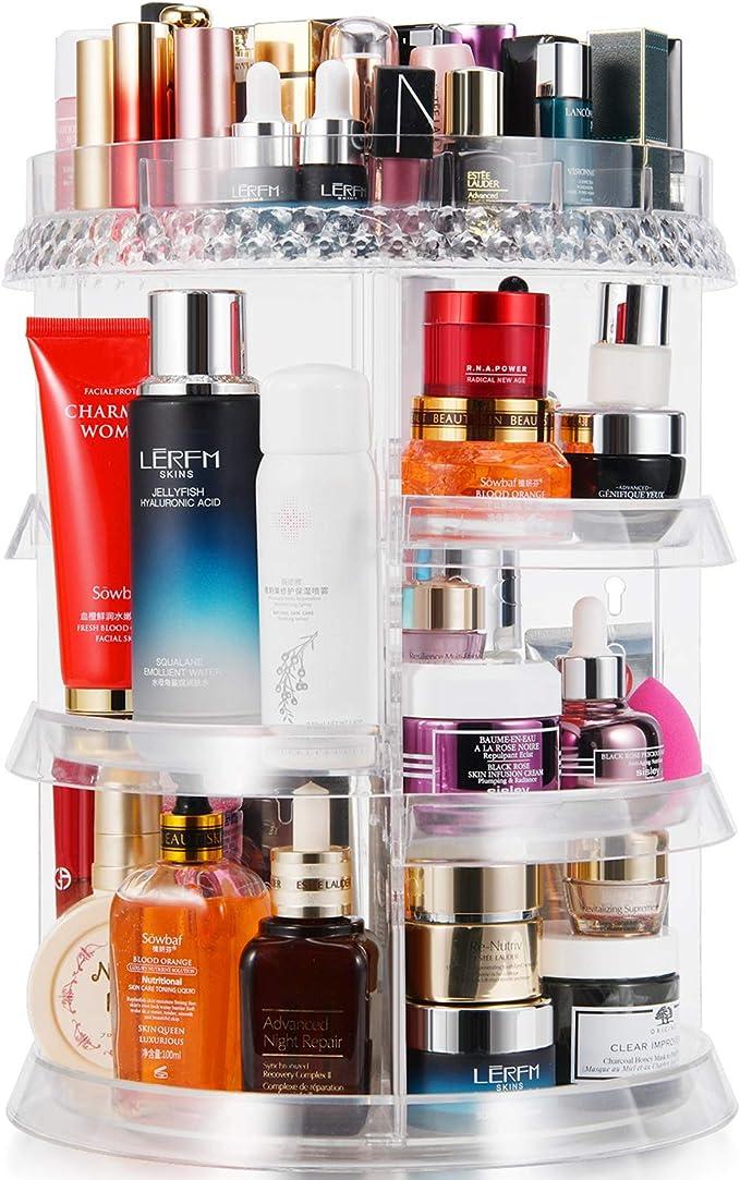 Multifunction Storage Organizer Basket Makeup Holder Desk Sundries Bathroom E6O7