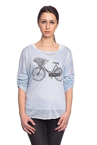 Abbino IG002 Shirts Tops Para Mujer - Hecho EN Italia - Colores Variados - Primavera Verano Camiseta...