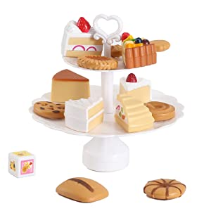 Liberty Imports Cookies and Desserts Cake Tower Balance Game - Balancing Play Food Toy Set for Kids