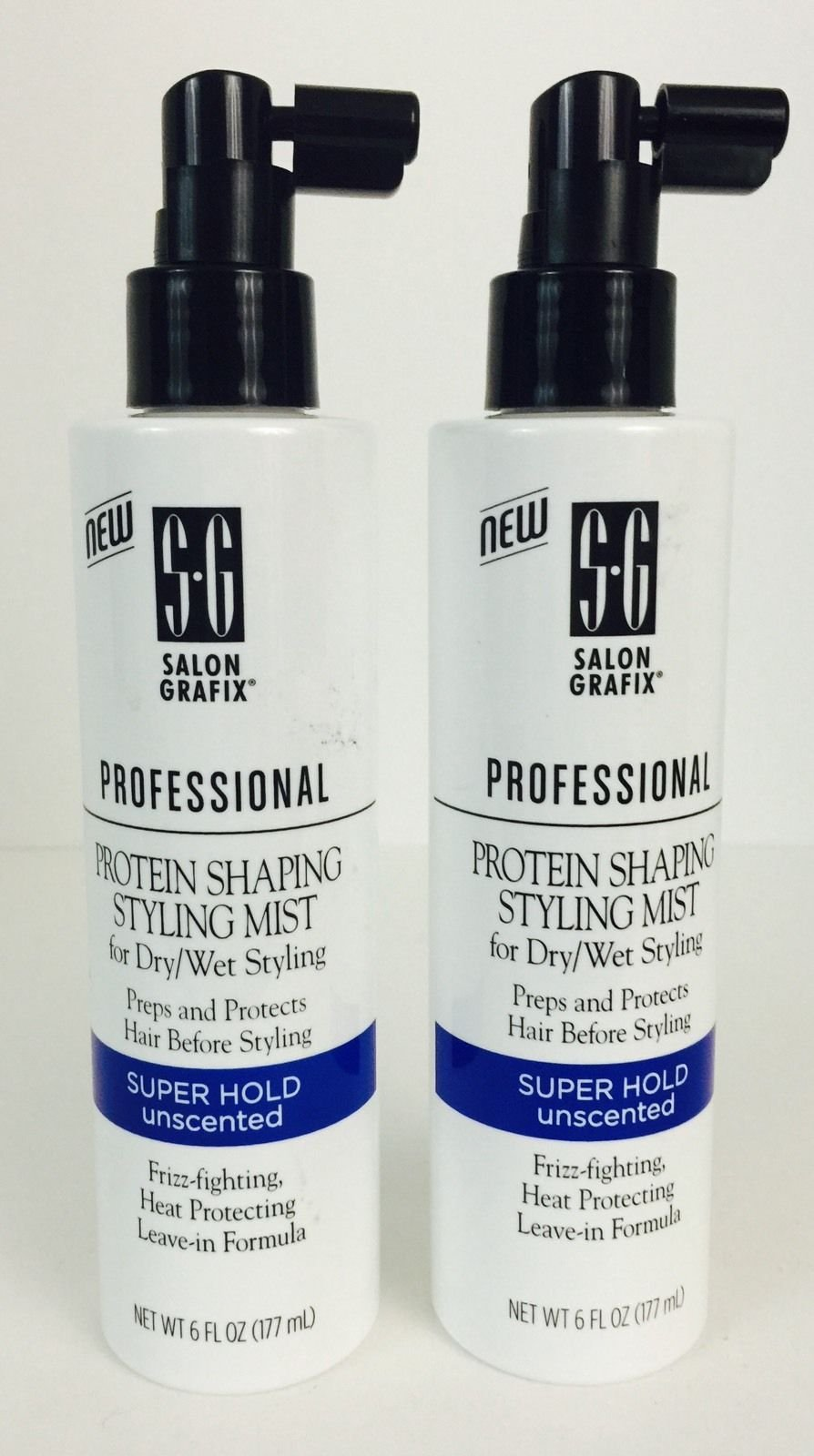 Salon Grafix Professional Protein Shaping Styling Mist, Super Hold, Unscented, 6 Fl Oz (Pack of 2)