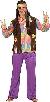 WIDMANN 73341 ? Disfraz Adulto Hippie Hombre, Camiseta ...