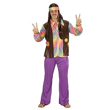 WIDMANN 73342 ? Disfraz Adulto Hippie Hombre, Camiseta, Chaleco ...