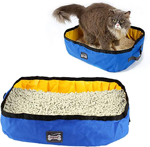 RCruning-EU Caja de Arena Plegable para Gatos Arenero Plegable y ...