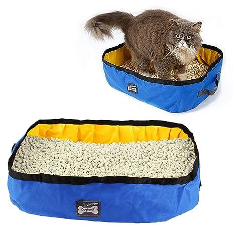 RCruning-EU Caja de Arena Plegable para Gatos Arenero Plegable y portátil para Gatos,