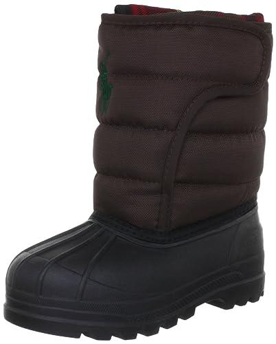 c97ea8359f5754 Polo Ralph Lauren Vancouver EZ Crest Boots Unisex-Child Brown Braun  (Chocolate) Size