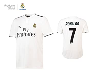 Camiseta 1ºEQUIPO Dorsal 7 Cristiano Ronaldo Real Madrid JR 2018-2019  Adulto  Amazon. 301b0b80a6c97
