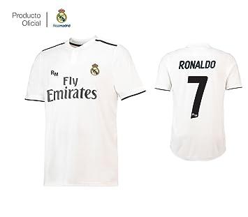 Camiseta 1ºEQUIPO Dorsal 7 Cristiano Ronaldo Real Madrid JR 2018-2019  Adulto (S) 709803a2c3fc8