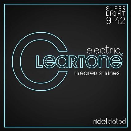Cleartone 9409 - Cuerdas de guitarra eléctrica, calibre 9-42 ...