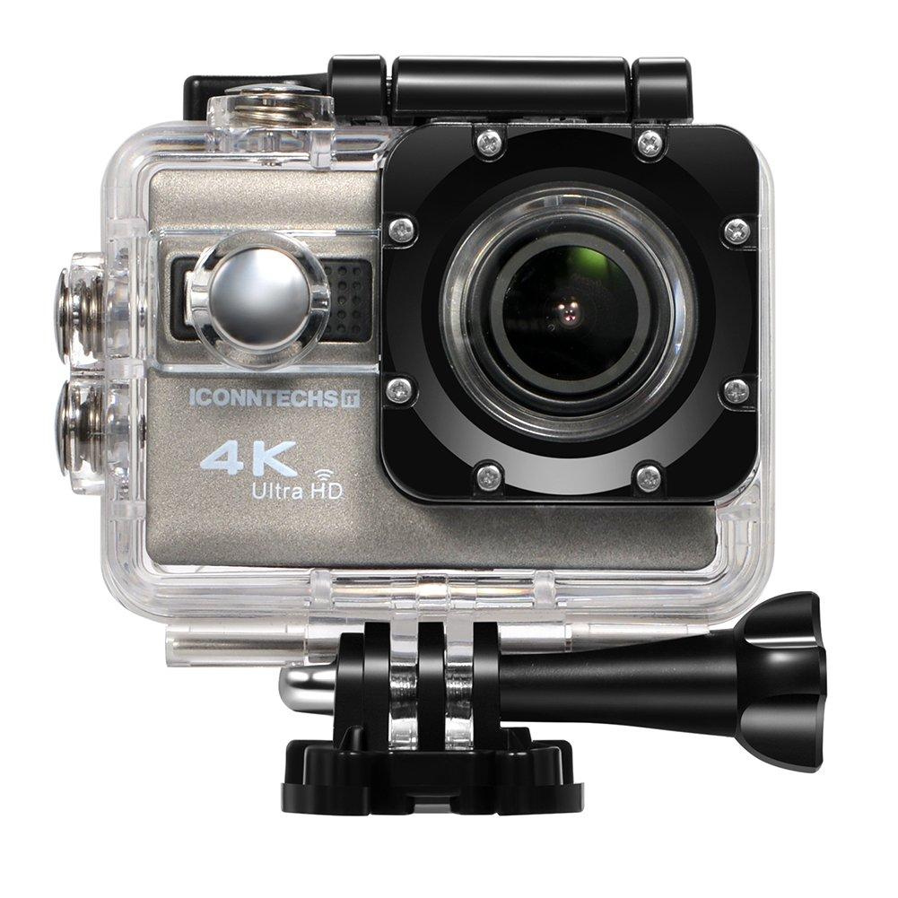 ICONNTECHS IT Action Kamera 4k Wasserdichte Sport Action Cam für Tauchen Wifi 170 Grad Weitwinkel 60 Bilder Pro Sekunde 20 MP HD Helmkameras Unterwasser Camcorder Radfahren und Extremsport F68- 4K