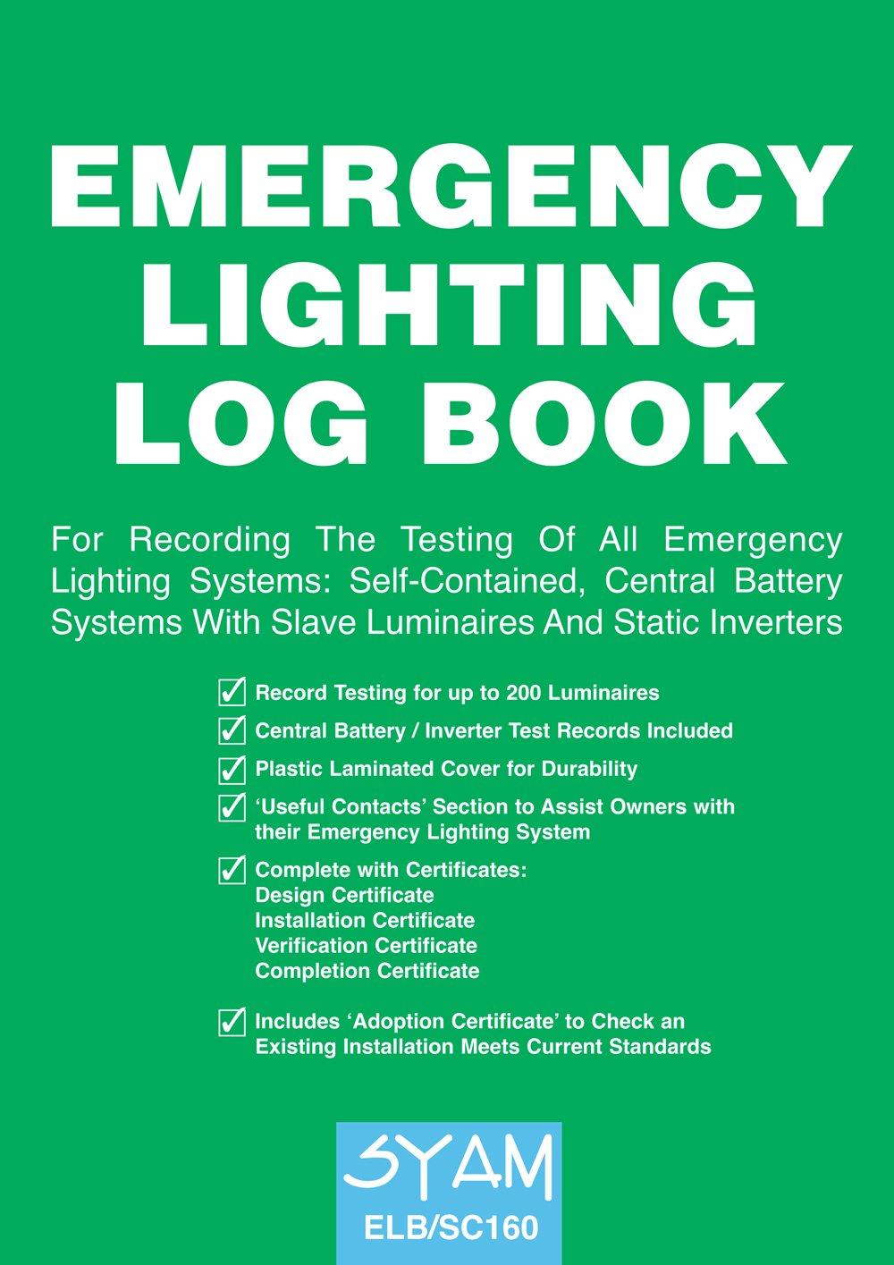 sc 1 st  Amazon UK & EMERGENCY LIGHTING LOG BOOK: Amazon.co.uk: SYAM: Books azcodes.com