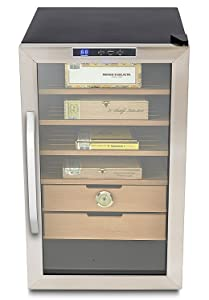 Whynter CHC-251S Stainless Steel 400-Cigar Cooler, 2.5 Cubic Feet Humidor Black