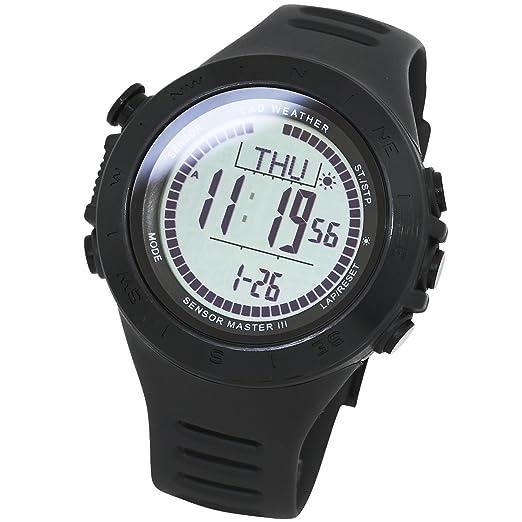 LAD WEATHER Reloj Altímetro Barómetro Brújula Calorías Pronóstico del Tiempo (bkbk-no)