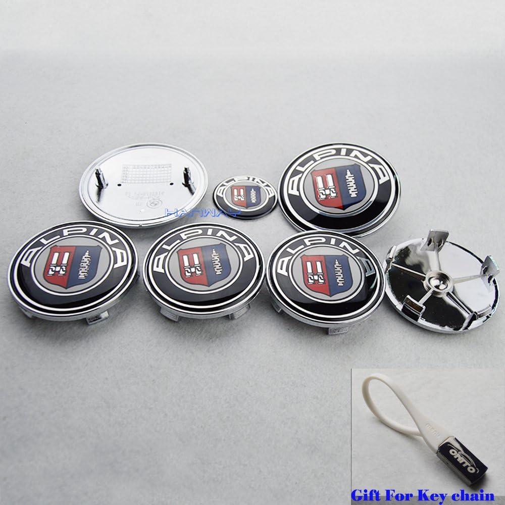 4pcs For Alpina 60mm Car Wheel Center Hub Cap Cover Emblem Badge With Logo