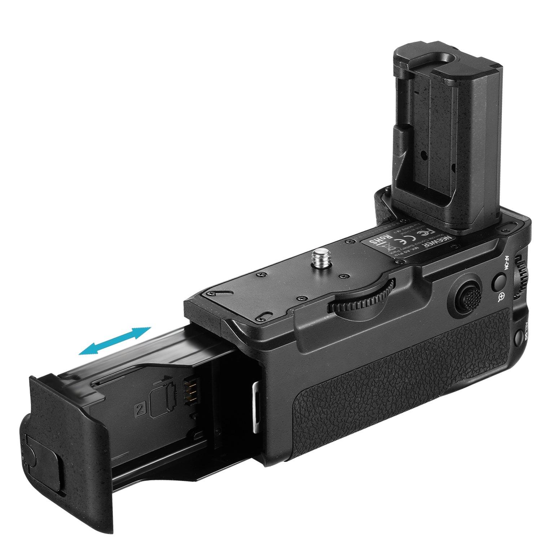 Neewer NW-A9 Sostituzione Verticale della Batteria per VGC3EM con Telecomando a 2,4 GHz Fino a 100 Metri per la Fotocamera Sony A9 A7RIII Batteria Non Inclusa