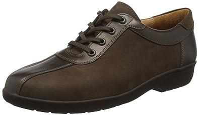 Anke, Weite G, Zapatos de Cordones Brogue para Mujer, Marrón (Espresso/Bronce 2070), 38.5 EU Ganter