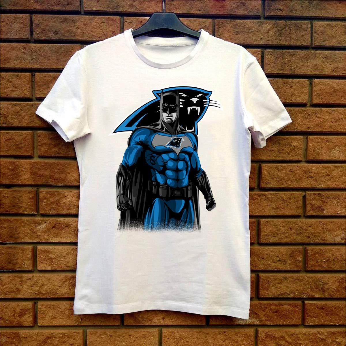 finest selection 5d1a5 0a733 Amazon.com: Batman Superhero Carolina-Panthers Fan Gift T ...