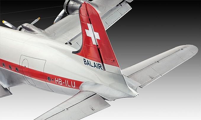 Revell- Douglas Maqueta DC-4 Balair/Iceland Airways, Kit Modello, Escala 1:72 (4947) (04947), 40,1 cm de Largo (