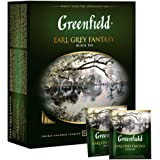 Greenfield Earl Grey Fantasy Сlassic Collection Black Tea Finely Selected Speciality Tea 100 Double Chamber Teabags With…