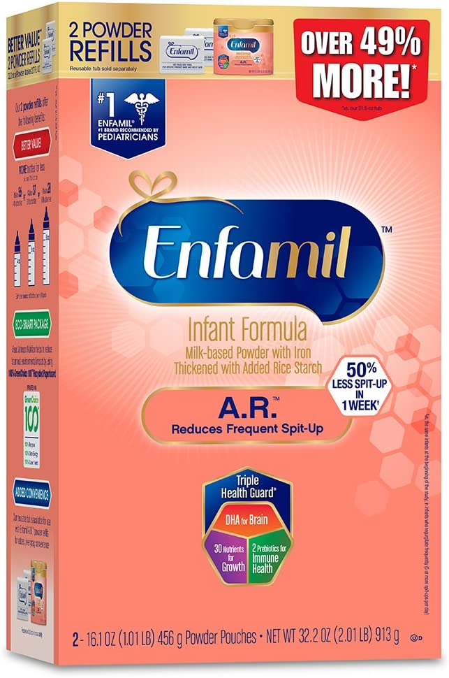 Enfamil A.R. Spit Up Baby formula gentle Milk Powder Refill