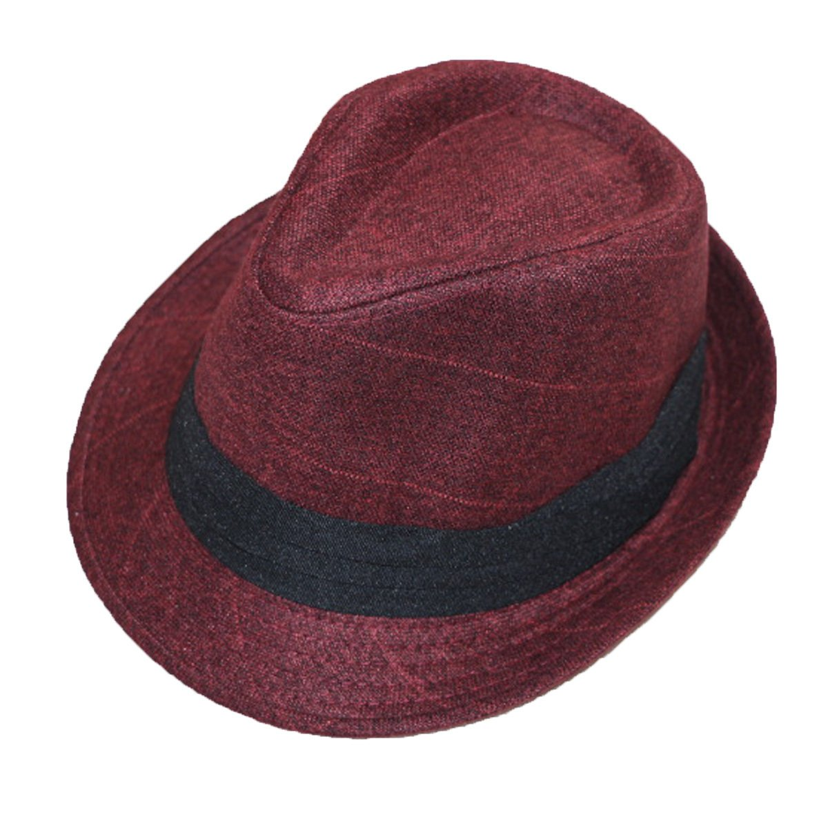 Unisex Fashion Warm Vintage Wool Fedoras Trilby Autumn Jazz Hat With Band Multicolor NIAISI