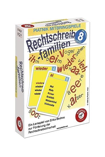 Piatnik 702402 Carte Da Gioco Per Imparare L Ortografia
