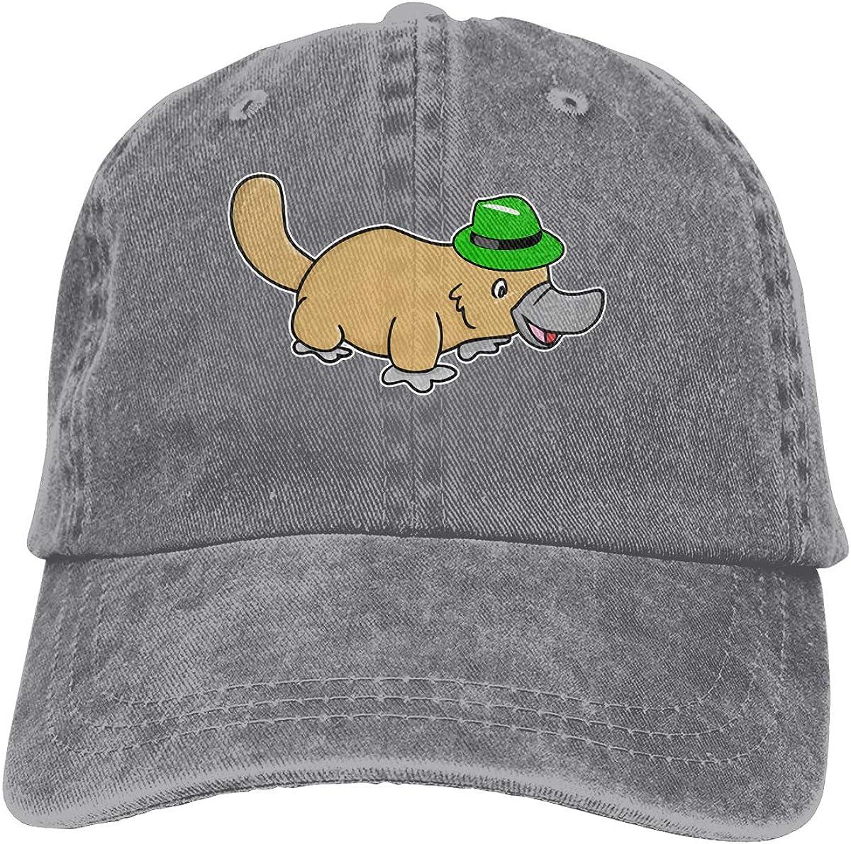 Unisex Cute Platypus Vintage Washed Dad Hat Funny Adjustable Baseball Cap