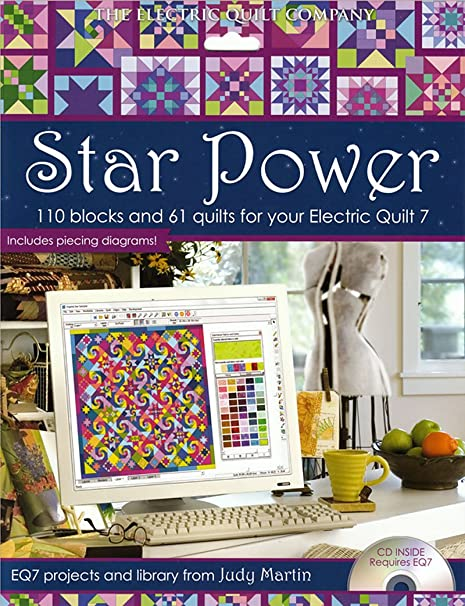 Amazon Com Star Power 110 Blocks And 61 Quilts For Your Electric Quilt 7 Eq7 Projects And Library From Judy Martin Software