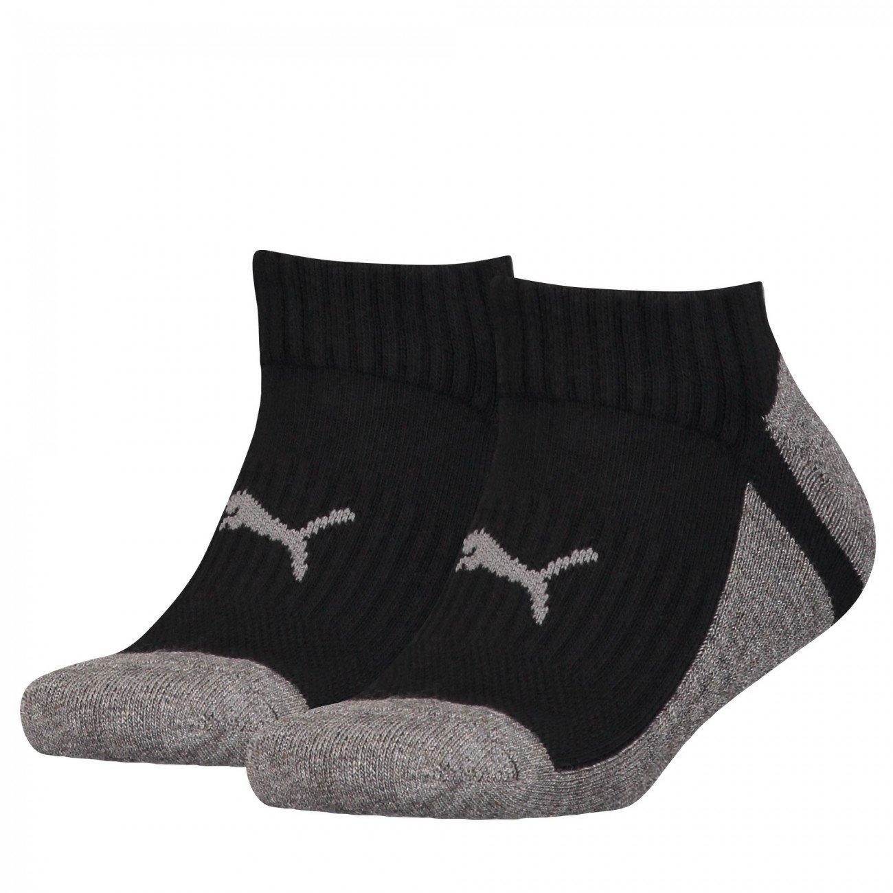 Puma Sneaker Multi-Sport 2P Kids Calcetines, Middle Grey Melange, 31–34 31-34 184005001