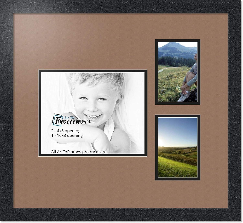 ArtToFrames Alphabet写真画像フレームwith 9 – 5 x 7 openings.とサテンブラックフレーム。 8x10 Double-Multimat-218-767/89-FRBW26079 B00GFCF1II 8x10|Sandpiper Sandpiper 8x10