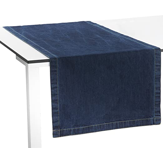 redbest Camino de mesa, azul oscuro, 40x170 cm: REDBEST: Amazon.es ...