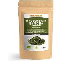 Biologische Japanse Groene Sencha Thee 50 gram. 100% Bio, Natuurlijke en Zuivere Groene Thee van de Eerste Pluk, Geteeld…