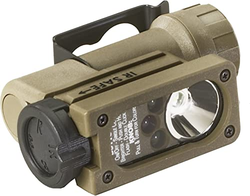 Streamlight 14104 Sidewinder Compact Tactical Flashlight with C4 LEDs and CR123A Lithium Battery, Coyote – 55 Lumens