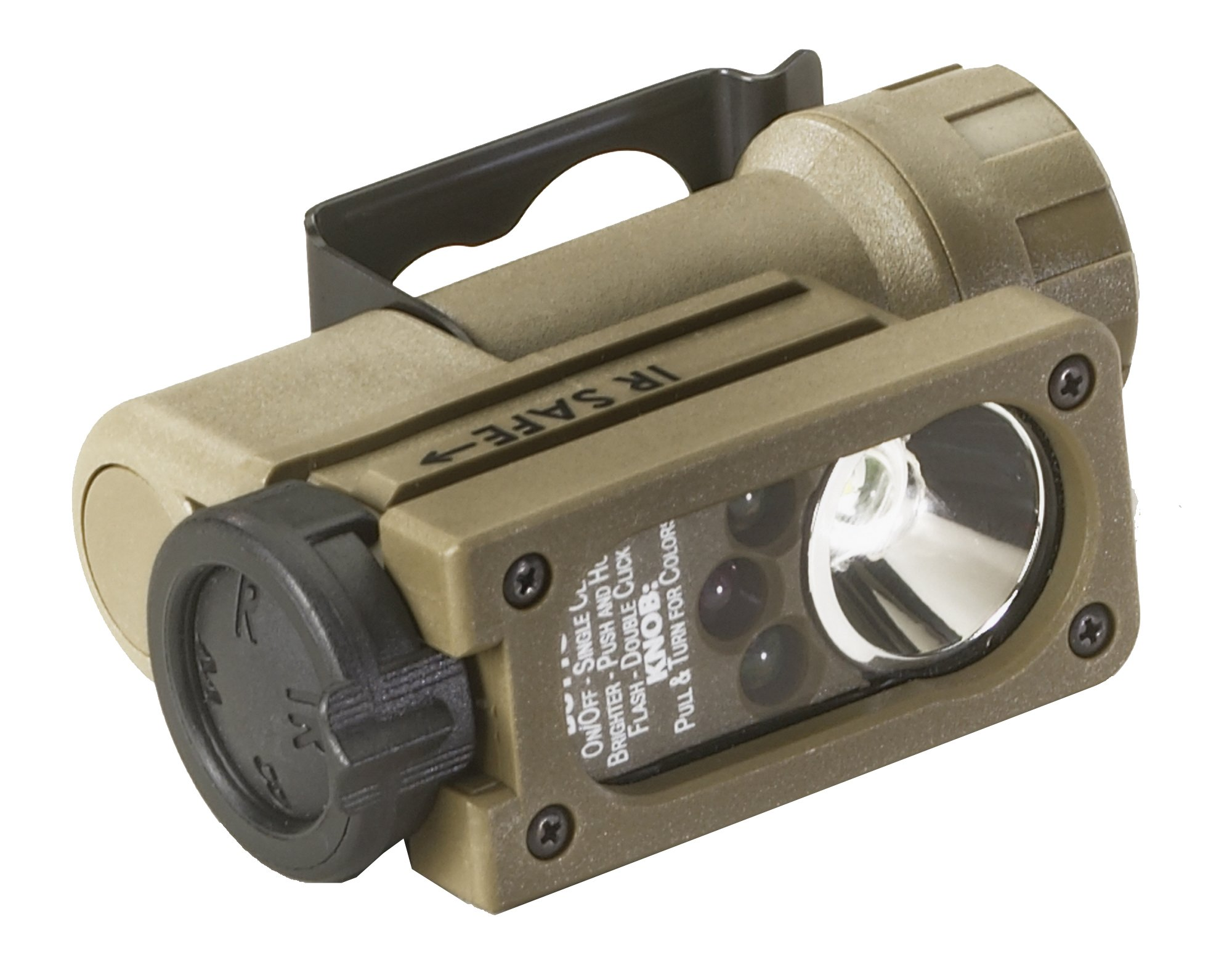 Streamlight 14104 Sidewinder Compact Tactical Flashlight with C4 LEDs and CR123A Lithium Battery, Coyote - 55 Lumens by Streamlight