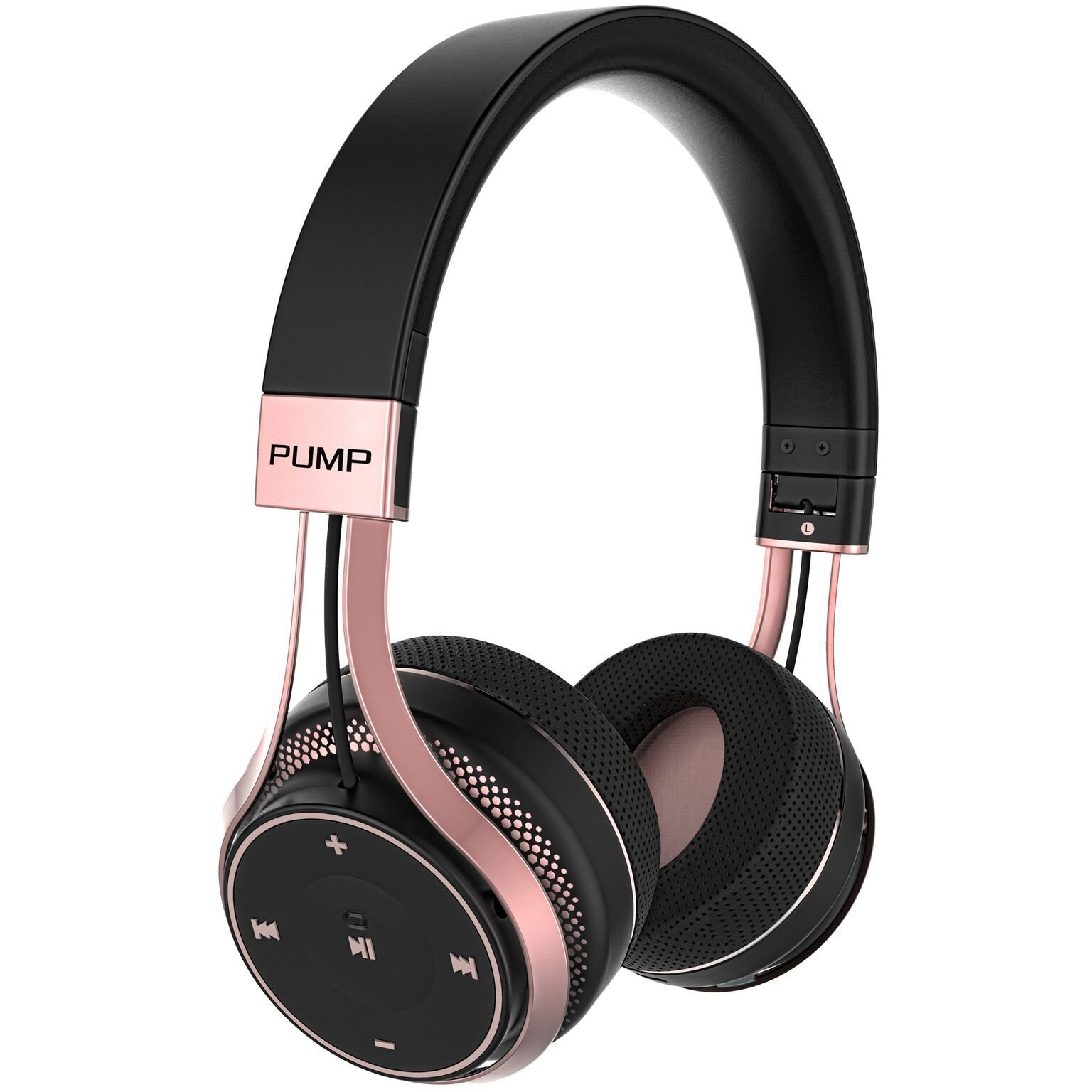 BlueAnt - Pump Soul On Ear Wireless HD Headphones, Stylish, Audio with One Touch Controls (Black Rose Gold) by BlueAnt