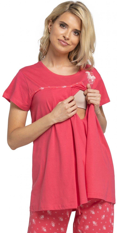 HAPPY MAMA Women's Maternity Top Nursing Breastfeeding Pyjamas Nightwear. 520p 520_nightnursing
