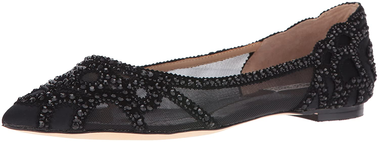 33aa4d1a9864 Amazon.com: Badgley Mischka Women's Gigi Pointed Toe Flat: Shoes