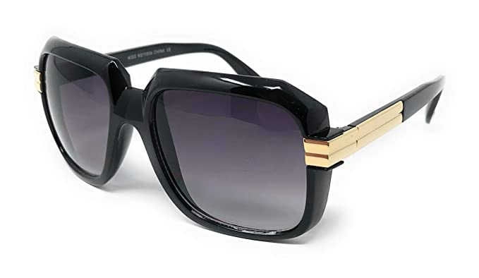 941f9345c228 WebDeals Retro - Mens Old School Hip Hop Square Aviator Sunglasses or Clear  Eyeglasses (Black