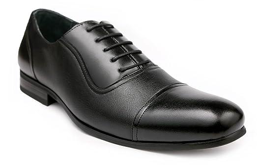 Ferro Aldo Men's Dress Shoes Cap Toe Lace up Oxfords Black (12, Black)