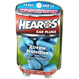 Hearos Xtreme Protection Series Ear Plugs Highest NRR ,14 Pairs