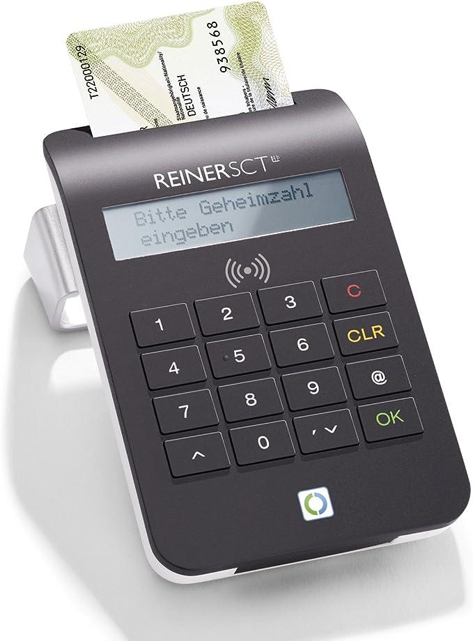 Reiner SCT cyberJack RFID Komfort - Lector de Tarjetas de crédito y DNI electrónico, Color Negro: Amazon.es: Informática