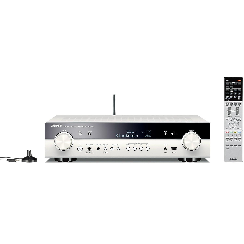 ヤマハ AVレシーバー RX-S601 5.1ch 4K Bluetooth Wi-Fi ネットワークオーディオ ハイレゾ音源 対応 ホワイト RX-S601(W)   B01DA305DK