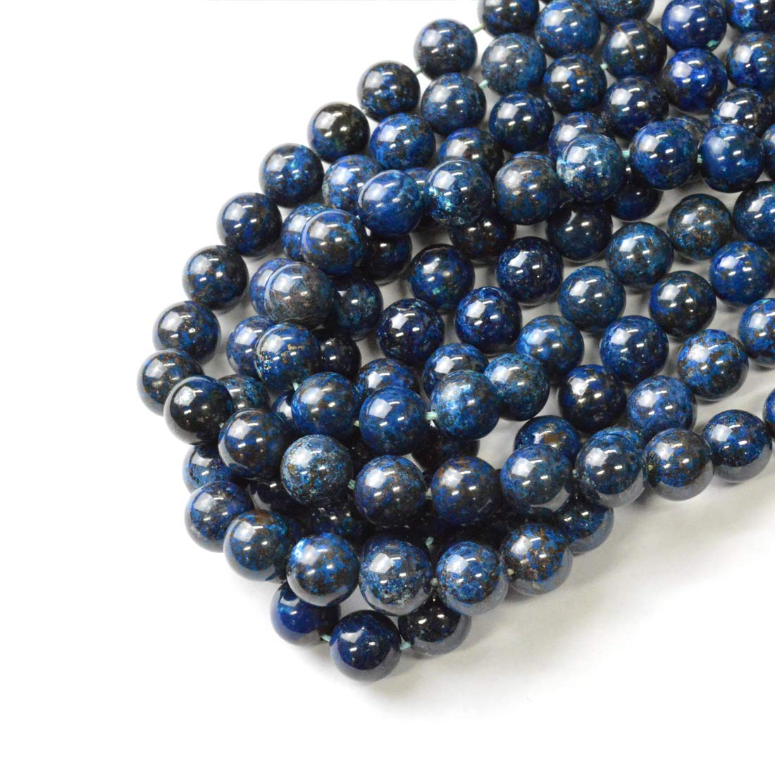 10mm Blue Mexican Opal Gemstone Round Loose Bead 15/'/' AAAA